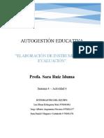 ELABORACION DE INSTRUMENTOS DE EVALUACION