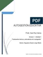 FUNDAMENTOS TÉORICOS Y ANTECEDENTES DE LA AUTOGESTIÓN