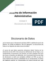 10,. Sistemas de Informaci+_  - Unidad II - 3 - Diccionario de Datos