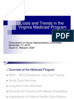 Virginia Medicaid Program Costs and Trends 2010