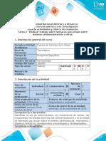 Guía de actividades y rúbrica de evaluación - Tarea 3 - Realizar trabajo sobre fármacos que actúan sobre sistema cardiorespiratorio y otros.