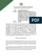 FALLO DE 1 DESFAVORABLE  2020-00026 LUIS FDO VARGAS