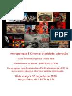 antropologia e cinema informações e programa