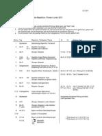 Zeitplan Repetition 2011