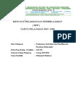 RPP PPPPE GENAP2 2019-2020