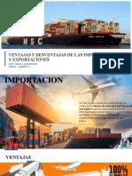 Ventajas y Desvantajas de la exportacion e importacion