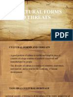 Cultural forms AND THREATS