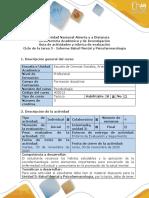 Guía de actividades y rúbrica de evaluación - Ciclo de la tarea 3-Informe Salud Mental