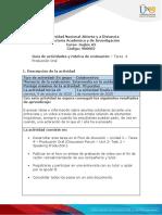 Guia de actividades y Rúbrica de evaluación - Unidad 2 - Tarea 4 - Producción Oral