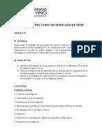 PROGRAMA SEMINARIO DE TESIS