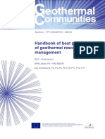 Handbook on best practices of geothermal resource management