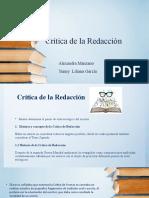 Critica de la Redacción