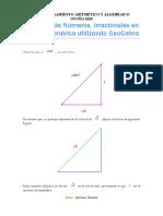 Práctica en GG de números irracionales