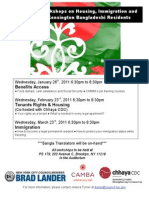 Free Winter Workshops on Housing, Immigration and Benefits for Kensington Bangladeshi Residents