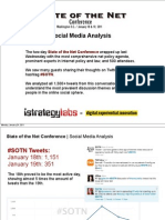 Social Media Analysis of the State of the Net Conference