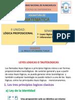 clase N°8 de matematica enfermeria LEYES  logicas