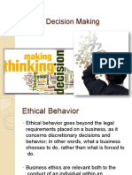 Ethical decision making unit 1