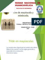USO DE MAYÚSCULA Y MINÚSCULA