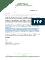 Letter to Rt Hon. Emily Thornberry MP
