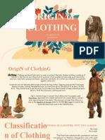 2. Origin of Clothing