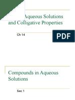13-1 Compounds in Aqueous Solutions