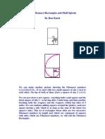 The Fibonacci Rectangles and Shell Spirals
