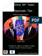 Ethiopia and China 50 Years of Diplomatic Relation