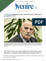 Blangiardo (Istat)_ nel 2019 a marzo 15mila morti per polmoniti varie