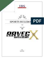 AAVEG X - Sports Rulebook