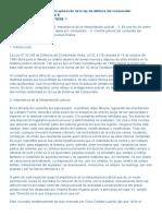 La función del juez en la aplicación de la ley de defensa del consumidor LA LEY 2009