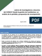 Informe Salarios CONICET 2020