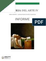 Historia del Arte IV - Informe 2020