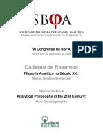 Caderno de Resumos VI Congresso da SBFA 2020