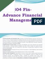 Advance Financial Management 1