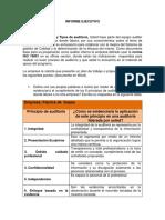 INFORME EJECUTIVO ISO 9001