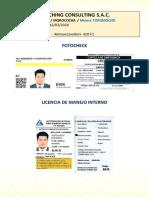 Fotocheck y Licencias Internas