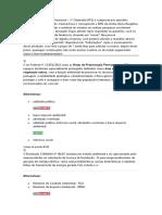 Avaliação presencial Licenciamento ambiental - UNOPAR