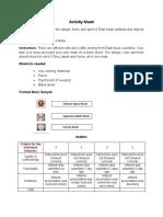 Activity Sheet for Art 8 q2 modular