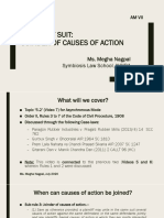 AM VII - Frame of Suit - Joinder and Misjoinder of Causes of Action (1)