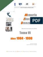 Memoria educativa de Venezuela