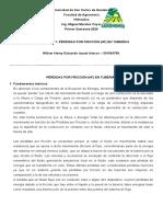 PÉRDIDAS POR FRICCIÓN (HF) EN TUBERÍAS