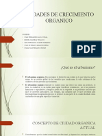 CIUDADES DE CRECIMIENTO ORGANICO