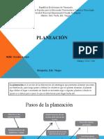 Pasos de la planeación 1