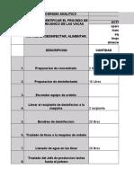 CURSOGRAMA ANALITICO DEL PROCESO DE ORDEÑO