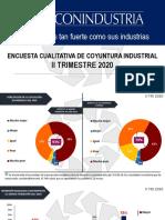 ENCUESTA CUALITATIVA DE COYUNTURA INDUSTRIAL II TRIMESTRE 2020