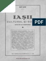 Iasii Cultural Si Social II (1929) - Ioan Dafin