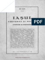 Iasii Cultural Si Social I (1928) - Ioan Dafin