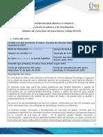Syllabus de curso Base de datos básico- ECBTI