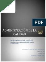 ANTOLOGÍA DE LA ADMINISTRACIÓN DE LA CALIDAD