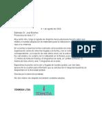 Carta Comercial.  Luis Cardenas A. 10B
